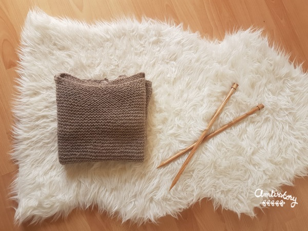 Tricot collection #1 : mon pull doudou au point mousse