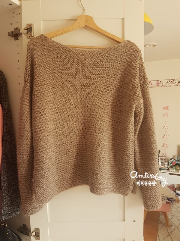 pull tricot point mousse