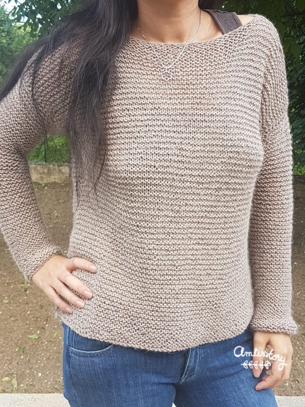 pull tricot mousse