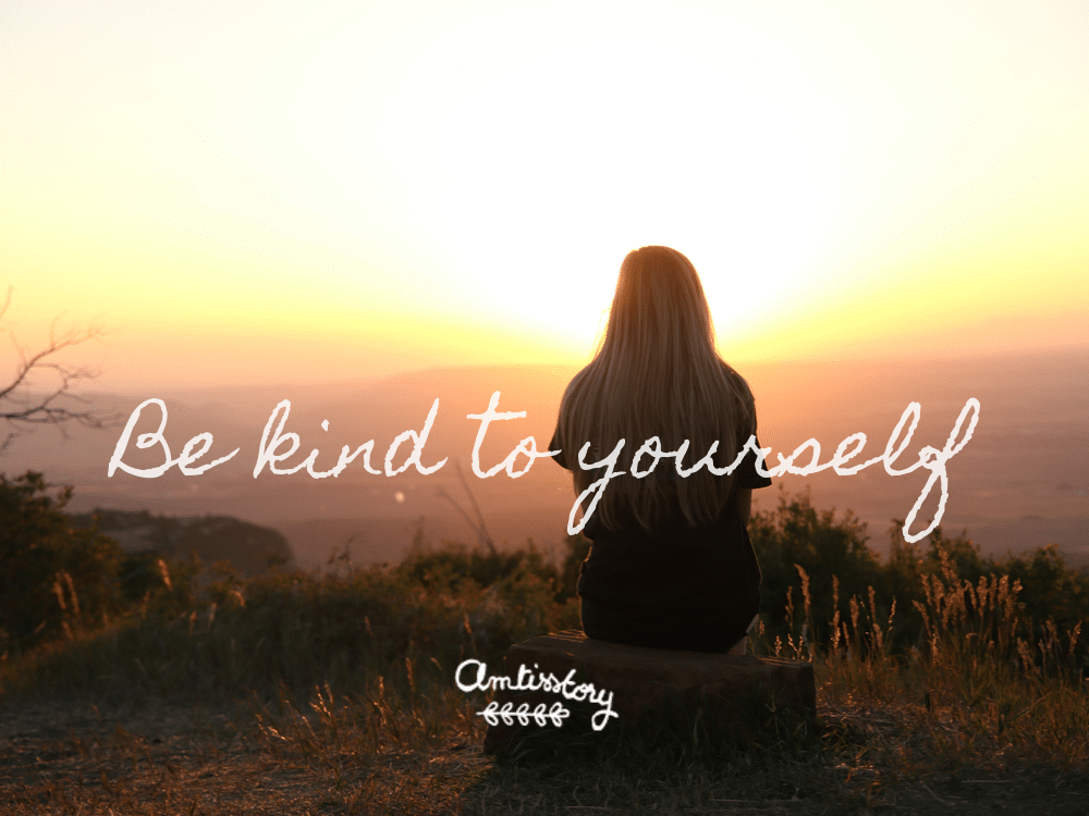 Citation inspirante perfectionniste be kind to yourself