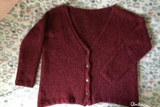 Tricot collection #5 : mon poppy cardigan en jersey (tuto)