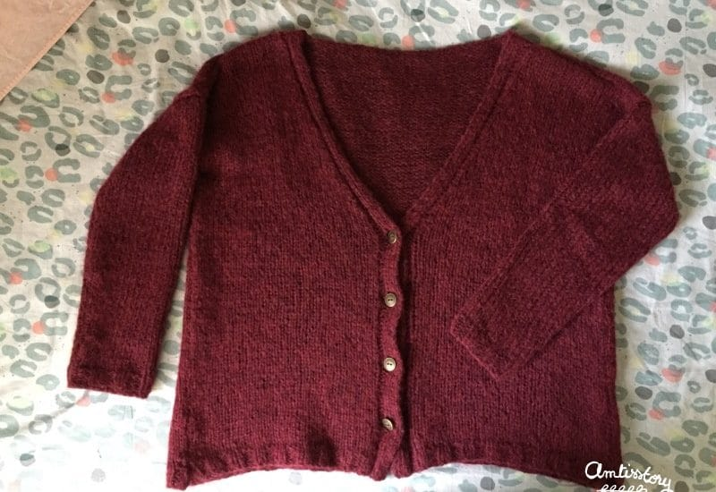 Tricot collection #5 : mon poppy cardigan en jersey (tuto